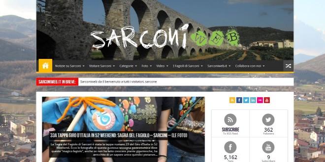 Nuova veste grafica per il sito di Sarconiweb.it