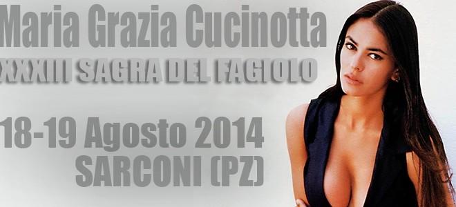 33esima edizione della Sagra del Fagiolo di Sarconi. Madrina d'eccezione Maria Grazia Cucinotta