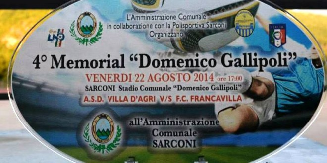 "4^ Memorial ""Domenico Gallipoli"" – Gerardo Vitale"