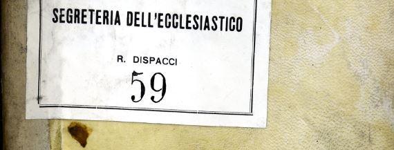Segreteria di Stato degli affari ecclesiastici – Università di Sarconi  – 31 Dicembre 1768