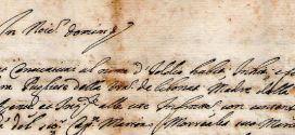Manoscritto Anno 1895 – Opposizione presentata da Domenico Lattaro all'elezione nel Consiglio Comunale di V. Ramagli, D. Miraglia e G. Tedesco