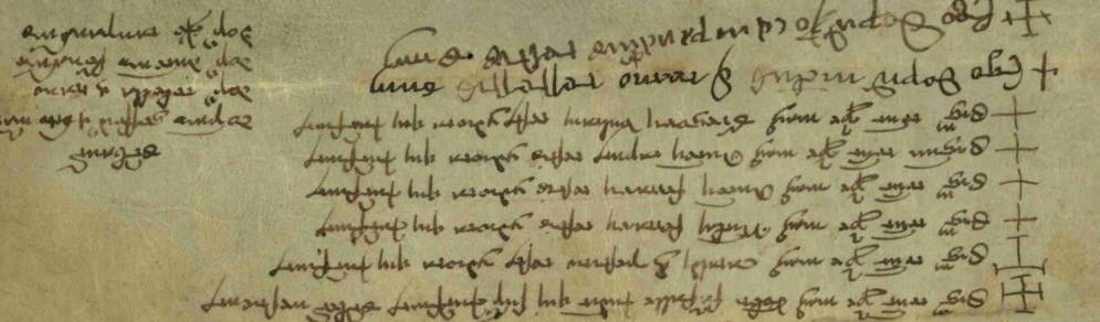 Pergamena anno 1399
