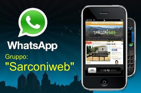 gruppo whatsapp sarconiweb