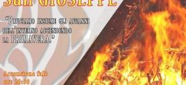 """Sabato 21 Marzo in largo Tempio """"Il Falò di San Giuseppe"""" a Sarconi"""