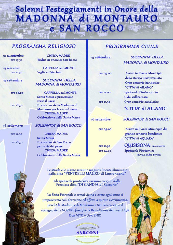 programma 2015 madonna montauro