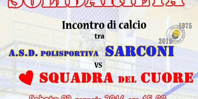 Sarconi 02 gennaio: Partita della solidarietà