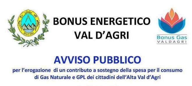 Bonus gas in Val d'agri: Sul sito del comune di Sarconi i moduli per la domanda