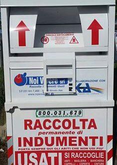 Sarconi: Installazione contenitori abiti usati