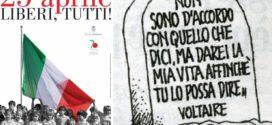 La festa della liberazione, la più banale delle feste d'Italia, che ci rende liberi anche di disertare le manifestazioni commemorative